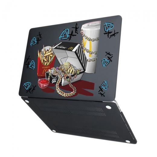 "Чехол-накладка Hustle Case Ice Big Mac Black для MacBook Air 13"" (M1   2020   2019   2018)"