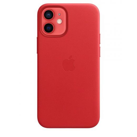 Чехол Apple Leather Case with MagSafe (PRODUCT) Red (MHK73) для iPhone 12 mini