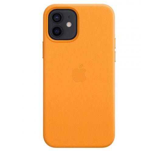 Чехол Apple Leather Case with MagSafe California Poppy (MHKC3) для iPhone 12 | 12 Pro