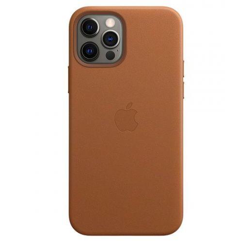 Чехол Apple Leather Case with MagSafe Saddle Brown (MHKF3) для iPhone 12 | 12 Pro