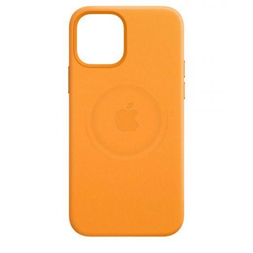 Чехол Apple Leather Case with MagSafe California Poppy (High copy) для iPhone 12 Pro Max