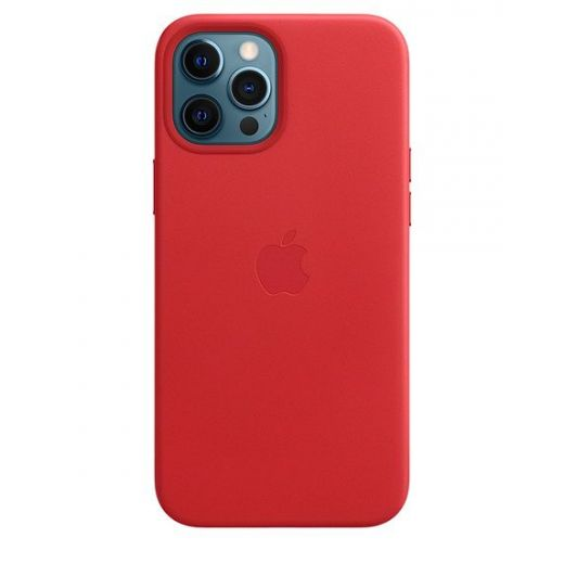 Чехол Apple Leather Case with MagSafe (PRODUCT) Red (MHKJ3) для iPhone 12 Pro Max