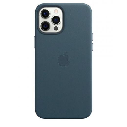 Чехол Apple Leather Case with MagSafe Baltic Blue (MHKK3) для iPhone 12 Pro Max