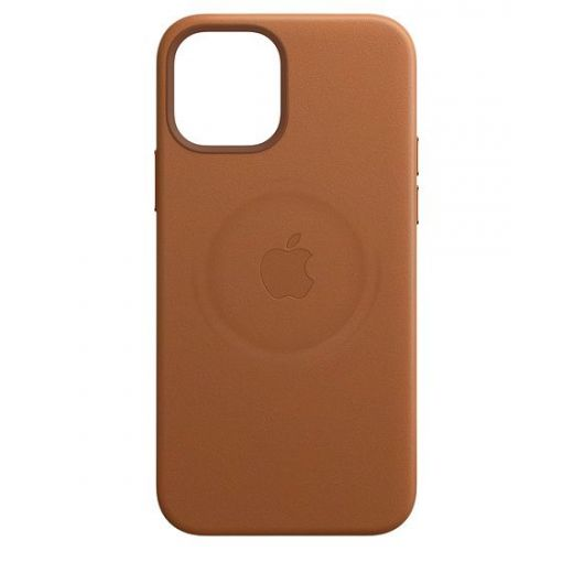 Чехол Apple Leather Case with MagSafe Saddle Brown (High copy) для iPhone 12 Pro Max