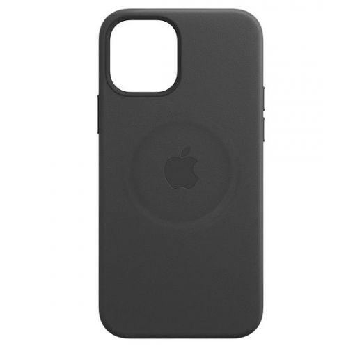 Чехол Apple Leather Case with MagSafe Black (MHKM3) для iPhone 12 Pro Max
