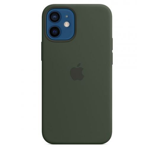 Чехол Apple Silicone Case with MagSafe Cyprus Green (MHKR3) для iPhone 12 mini