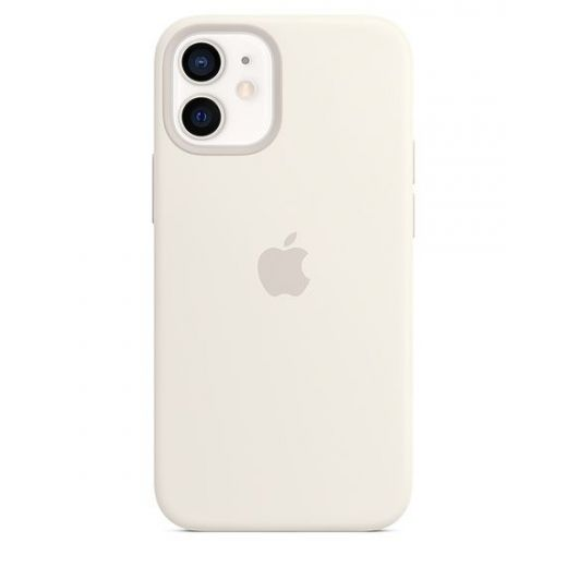 Чехол Apple Silicone Case with MagSafe White (MHKV3) для iPhone 12 mini