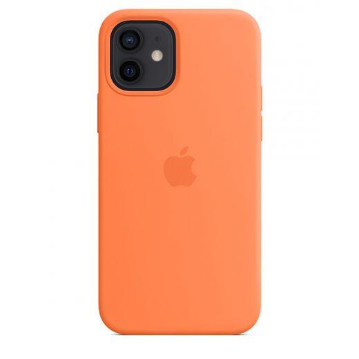 Чехол Apple Sillicone Case with MagSafe Kumquat (High copy) для iPhone 12   12 Pro