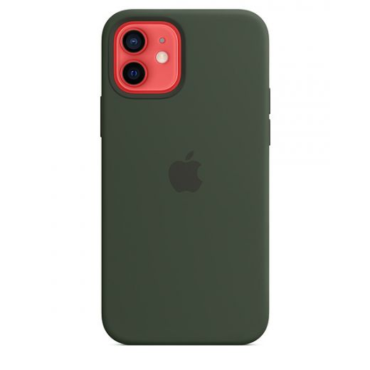 Чехол Apple Sillicone Case with MagSafe Cyprus Green (MHL33) для iPhone 12   12 Pro