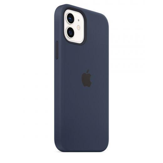 Чехол Apple Sillicone Case with MagSafe Deep Navy (High copy) для iPhone 12 | 12 Pro