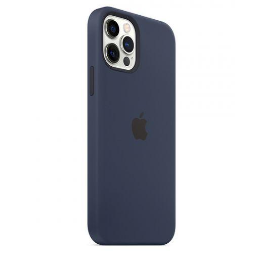 Чехол Apple Sillicone Case with MagSafe Deep Navy (MHL43) для iPhone 12 | 12 Pro