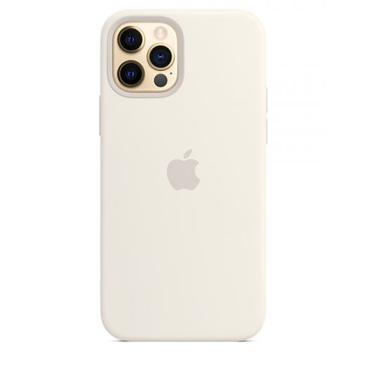 Чехол Apple Sillicone Case with MagSafe White (High copy) для iPhone 12 | 12 Pro
