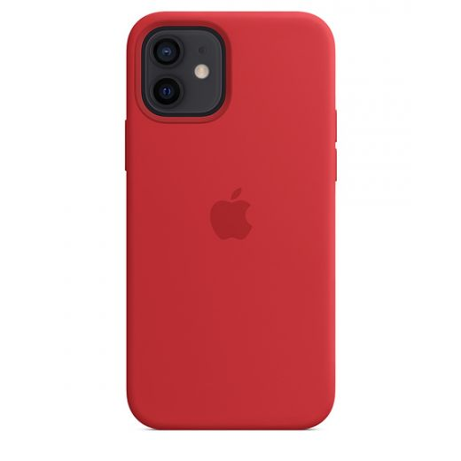 Чехол Apple Sillicone Case with MagSafe (PRODUCT)RED (MHL63) для iPhone 12   12 Pro