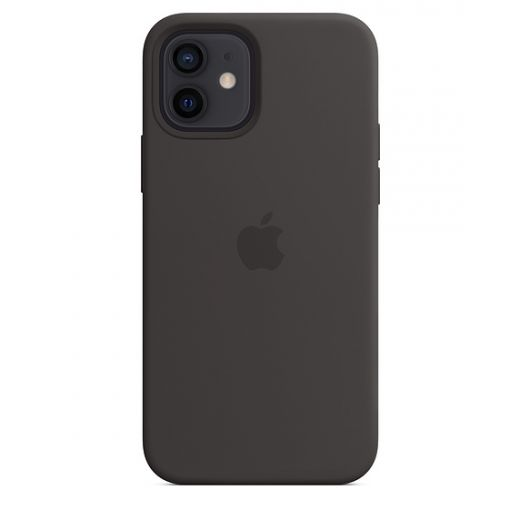 Чехол Apple Sillicone Case with MagSafe Black (MHL73) для iPhone 12   12 Pro