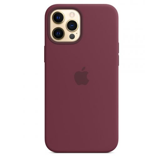 Чехол Apple Sillicone Case with MagSafe Plum (MHLA3) для iPhone 12 Pro Max