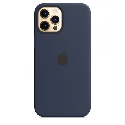 Чехол Apple Sillicone Case with MagSafe Deep Navy (MHLD3) для iPhone 12 Pro Max