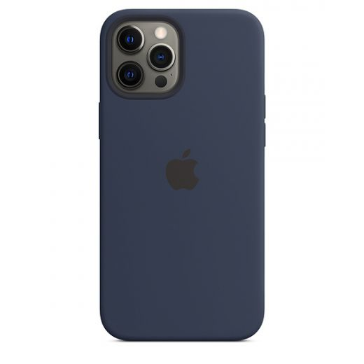Чехол Apple Sillicone Case with MagSafe Deep Navy (High copy) для iPhone 12 Pro Max