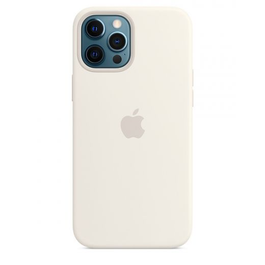 Чехол Apple Sillicone Case with MagSafe White (High copy) для iPhone 12 Pro Max