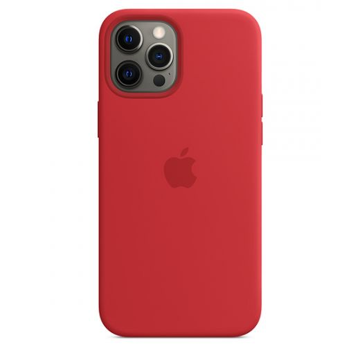 Чехол Apple Sillicone Case with MagSafe (PRODUCT)RED (High copy) для iPhone 12 Pro Max