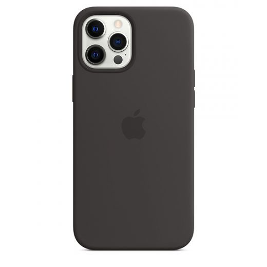Чехол Apple Sillicone Case with MagSafe Black (High copy) для iPhone 12 Pro Max