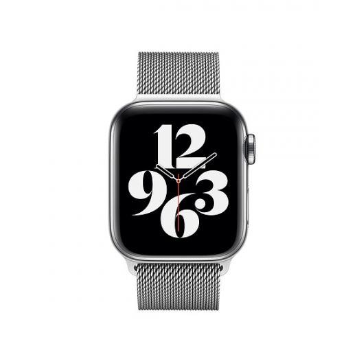 Ремешок Apple Milanese Loop Silver (MTU22) для Apple Watch 38/40 mm