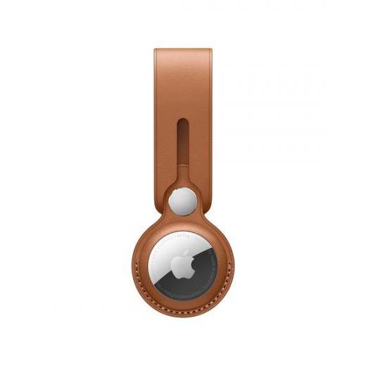 Брелок Apple AirTag Leather Loop Saddle Brown (MX4A2)
