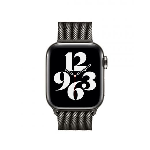 Ремешок Apple Milanese Loop Graphite (MYAN2) для Apple Watch 38/40 mm