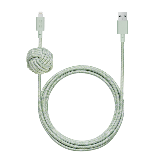 Кабель Native Union Night Cable Lightning Sage (3 m) (NCABLE-L-GRN-NP)