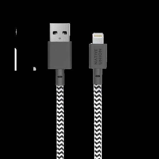 Кабель Native Union Night Cable Lightning Zebra (3 m) (NCABLE-L-ZEB-NP)