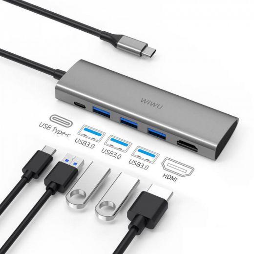 Адаптер WIWU Apollo A531H USB-C to HDMI Grey