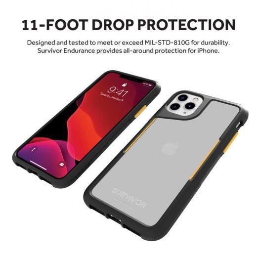 Чехол Griffin Survivor Endurance Black/Citrus/Clear (GIP-034-BCT) для iPhone 11 Pro Max