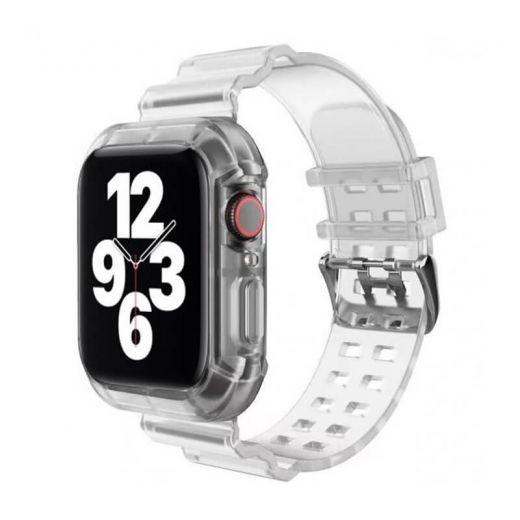 Прозрачный ремешок с чехлом CasePro Transparent для Apple Watch 41 | 40 | 38 mm