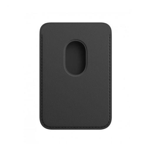 Кожаный кошелек Apple MagSafe Black (MHLT3) для iPhone