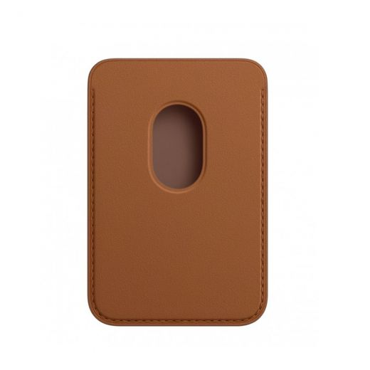 Кожаный кошелек Apple MagSafe Saddle Brown (MHLR3) для iPhone