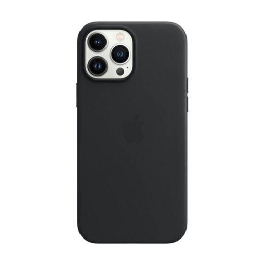 Оригинальный кожаный чехол Apple Leather Case with MagSafe Midnight (MM1R3) для iPhone 13 Pro Max