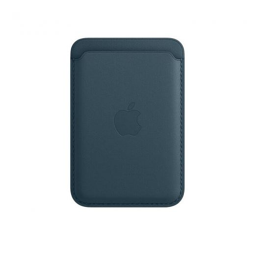 Чехол Apple Leather Wallet with MagSafe Baltic Blue (High copy) для iPhone