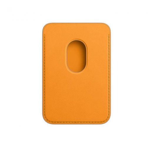 Чехол Apple Leather Wallet with MagSafe California Poppy (High copy) для iPhone