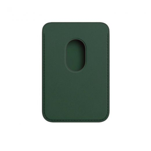 Чехол Apple Leather Wallet with MagSafe Forest Green (High copy) для iPhone