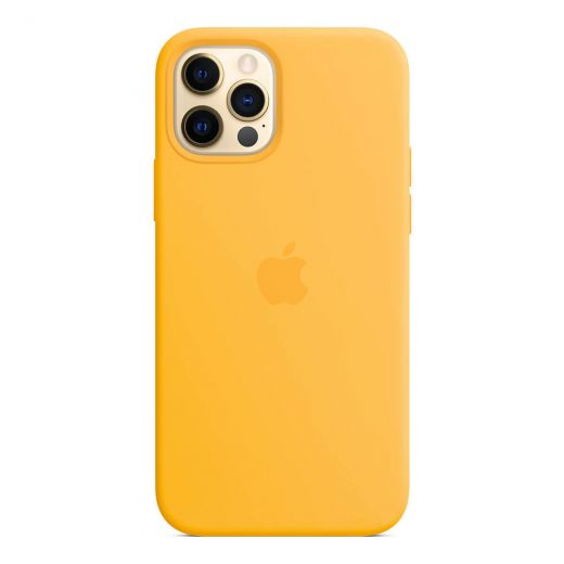 Чехол Apple Sillicone Case Sunflower (High copy) для iPhone 12 | 12 Pro
