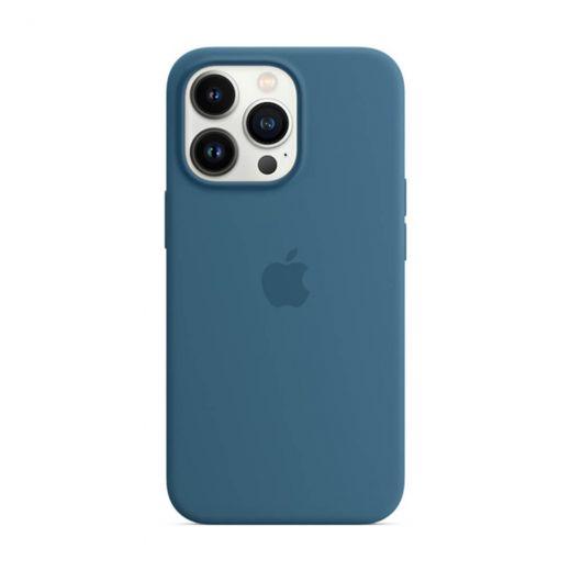 Оригинальный силиконовый чехол Apple Silicone Case with MagSafe Blue Jay (MM2G3) для iPhone 13 Pro