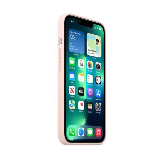 Оригинальный силиконовый чехол Apple Silicone Case with MagSafe Chalk Pink (MM2H3) для iPhone 13 Pro