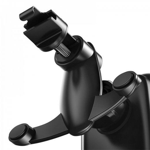 Автомобильный держатель Baseus Rock-solid Electric Holder Wireless charger Black (WXHW01-01)