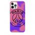 Силиконовый чехол CasePro PSG Logo Pink/Purple для iPhone 12 | 12 Pro