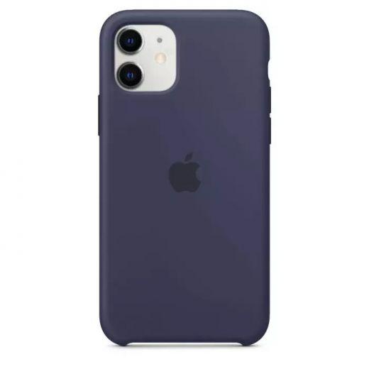 Чехол Apple Silicone Case Midnight Blue (High copy) для iPhone 11