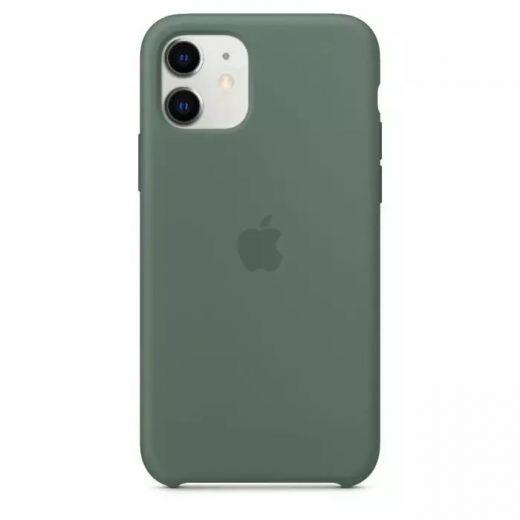 Чехол Apple Silicone Case Pine Green (High copy) для iPhone 11