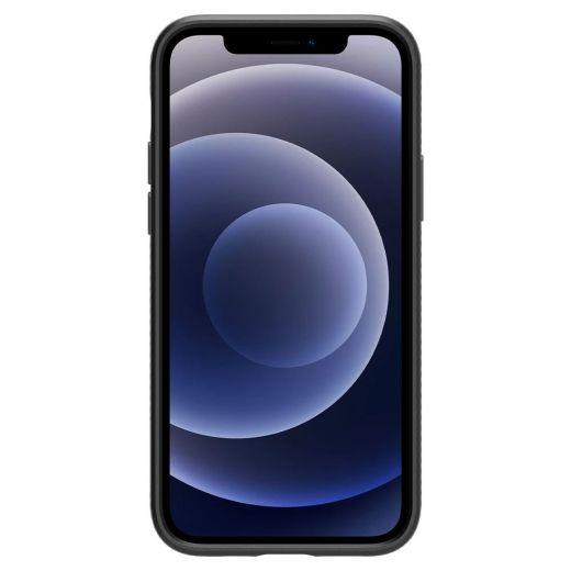 Чехол Spigen Liquid Air Matte Black (ACS01701) для iPhone 12 | 12 Pro