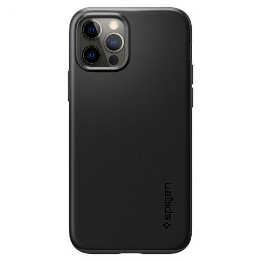 Чехол Spigen Thin Fit Black (ACS01696) для iPhone 12   12 Pro