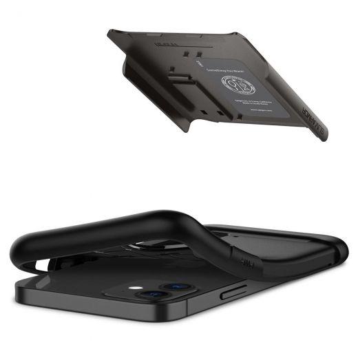 Чехол Spigen Slim Armor Gunmetal (ACS01546) для iPhone 12 mini