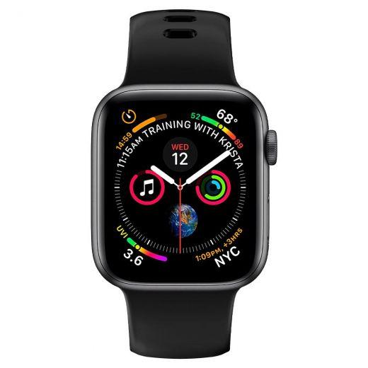 Ремешок Spigen Silicone Fit Black для Apple Watch 38/40 mm