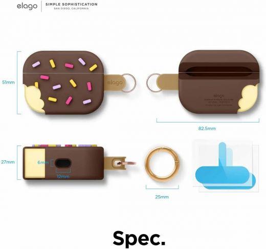 Чехол Elago Ice Cream Case Chocolate (EAPP-ICE-DBR) для Airpods Pro